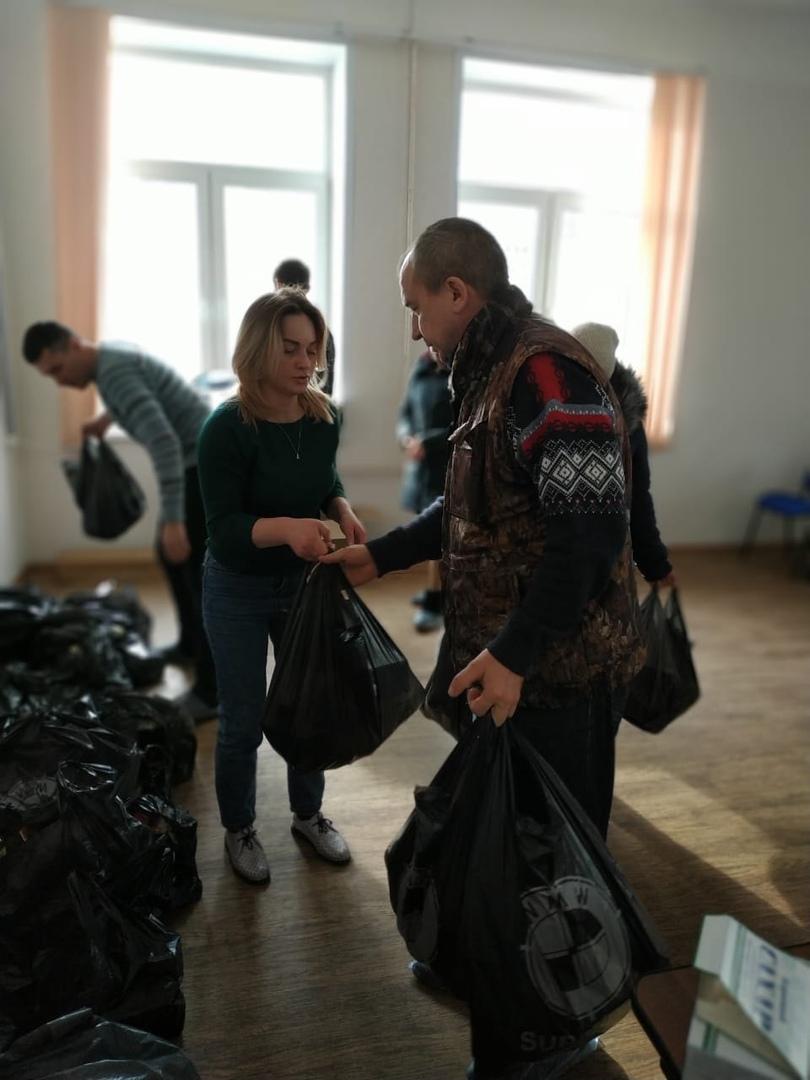 29.02.2020г провели раздачу продуктовых наборов